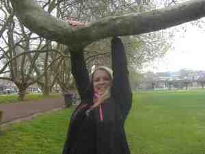Lena in Auckland im Victoria Park