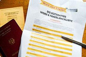 Die ausführlichste Packliste für Work and Travel