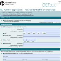 Neue IRD number Beantragung: deutsche Steueridentifkationsnummer benötigt