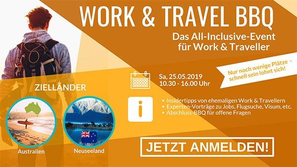 Work & Travel BBQ | Alle Insidertipps für dein Work and Travel in Australien oder Neuseeland