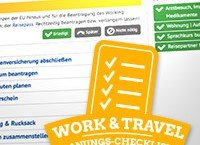 Work & Travel Checkliste